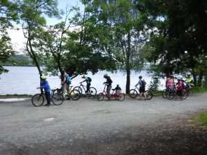 Cycling expedition.